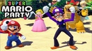 Super Mario Party MiniGames - Mario Vs Wario Vs Waluigi Vs Daisy