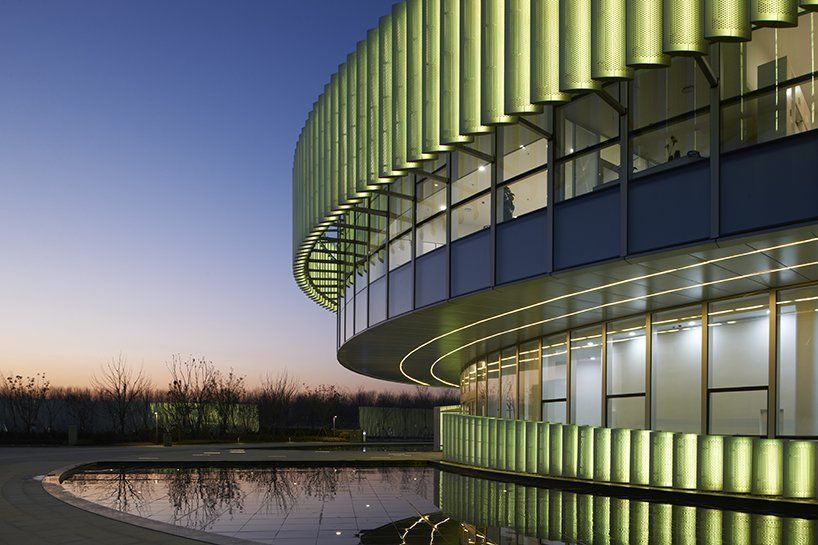 WSP architects designs DNA-inspired exhibition center for chinese pharmaceutical park