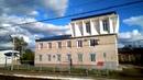 Станция Антропово Северной железной дороги. Россия из окна поезда.