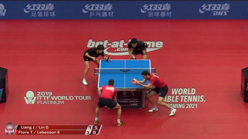 Liang Jingkun Lin Gaoyuan vs Tristan Flore 2019 ITTF Austrian Open Highlights R16