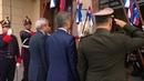 Arribo del presidente Mauricio Macri a la sede Mercosur en Montevideo