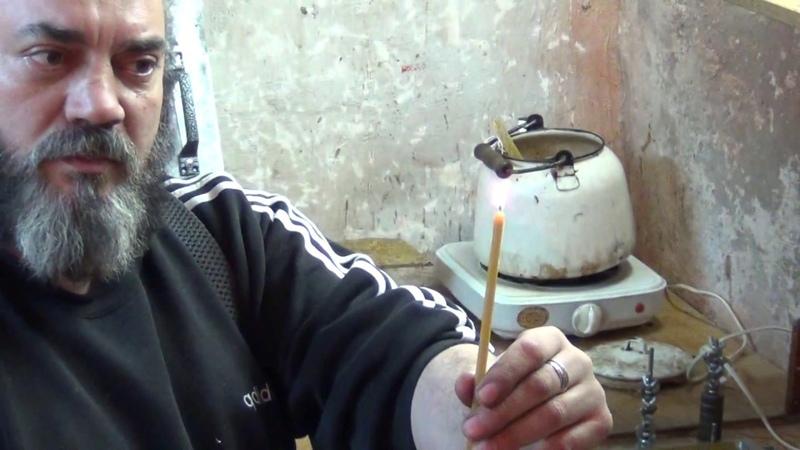 ➤Урок 5. МАСТЕР-КЛАССЫ ДЛЯ ПРИХОДОВ➤ Wick Kerze im Durchmesser 5,5 cm ✓➤➤