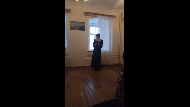 """Мария Чебан(Курякина)""""Семинарские зарисовки/Урок Катехизиса"""" урывок"""