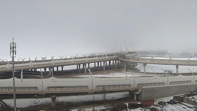 Туман рассеивается Санкт Петербург timelapse HD