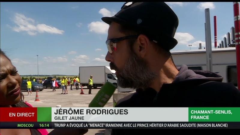 Acte 32 des Gilets jaunes : opération péage gratuit à Chamant-Senlis (Oise)