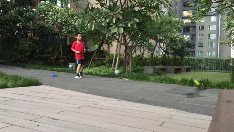 An brothers | Dụng cụ tự tập tennis P5 | forehand tennis