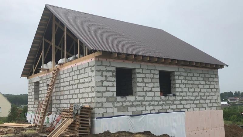 Заключительный этап - строительство крыши