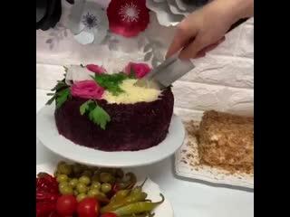 Закуска- Печеночный торт