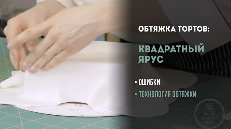 Как обтянуть квадратный торт мастикой