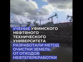 Уфимские ученые разработали новую технологию по очистке земли от отходов нефтепереработки