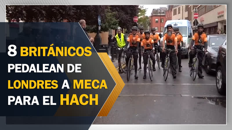 8 británicos pedalean de Londres a La Meca para el Hach