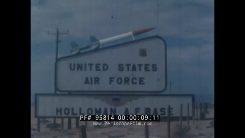 U.S. AIR FORCE ROCKET SLED HIGH SPEED TEST TRACK HOLLOMAN NEW MEXICO 1960s HIGHLIGHTS FILM 95814