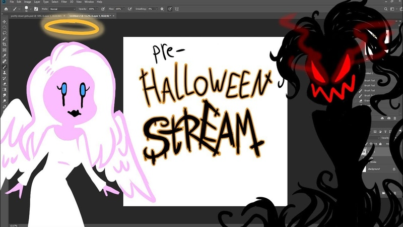 Pre- Halloween Stickers Stream/ Witch co-host Admin- Chan