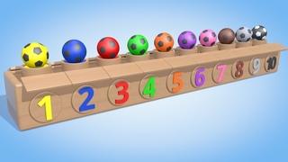 Обучающий мультик для детей. Цветные мячики. Учимся считать от 1 до 10. Паровозик Олли