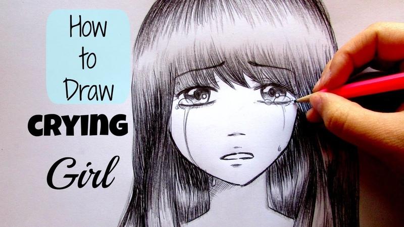 Manga Tutorial How to draw crying girl Come disegnare una ragazza che piange