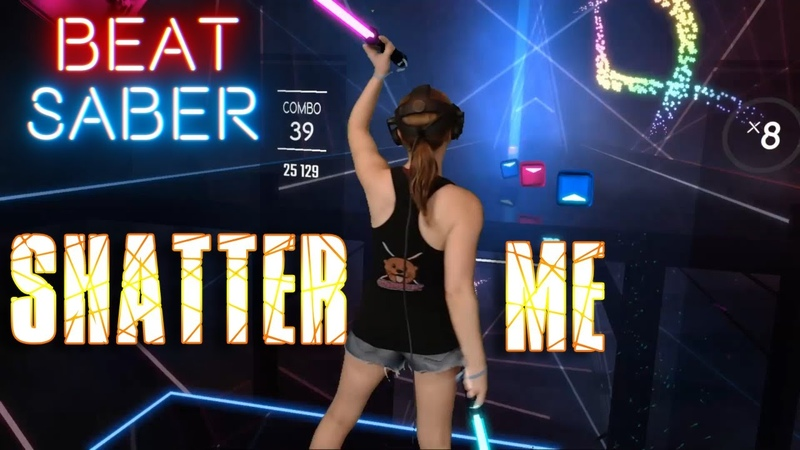 Beat Saber || Shatter Me by Lindsey Stirling (Expert) First Attempt || Mixed Reality