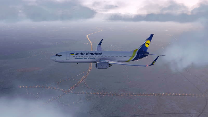 Крушение PS752 украинского самолета Boeing 737 8KV в Иране международный аэропорт имени Имама Хомейни OIIE X Plane 11 35