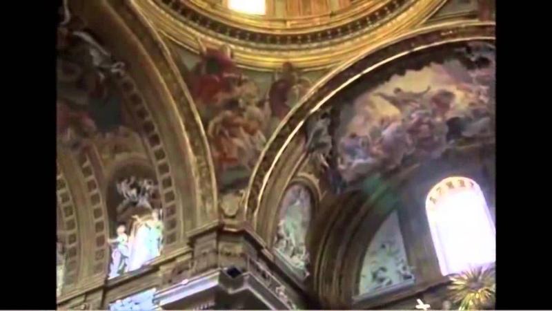 Джакомо Бароцци да Виньола и Джакомо делла Порта, Иль Гесу, Рим; фреска Джованни Баттисты Гаулли