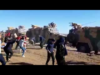 The start of joint Russian-Turkish military patrol in Derna-Agha in Derik (Malikiya)