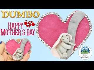 Happy Mother's Day! - Dumbo & His Mommy - Polymer Clay Tutorial - Blue in Wonderwood