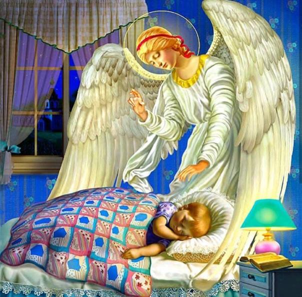 Картинки про спокойной ночи с ангелом