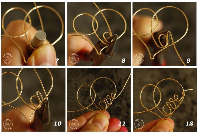 Как сделать проволочную подвеску-сердечко, изображение №5