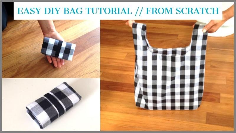 DIY BAGTOTE BAGHANDMADE SHOPPING BAGbolsa diy bolsa de bricolajecoudre un sacDIYバッグถุงหิ้วผ้า