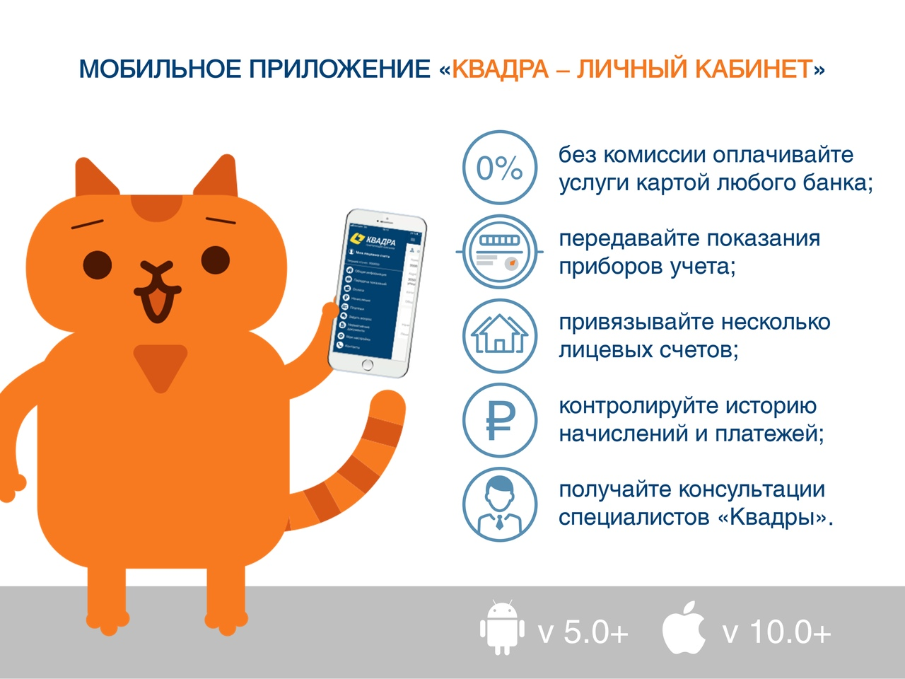 У курской «Квадры» появилось мобильное приложение