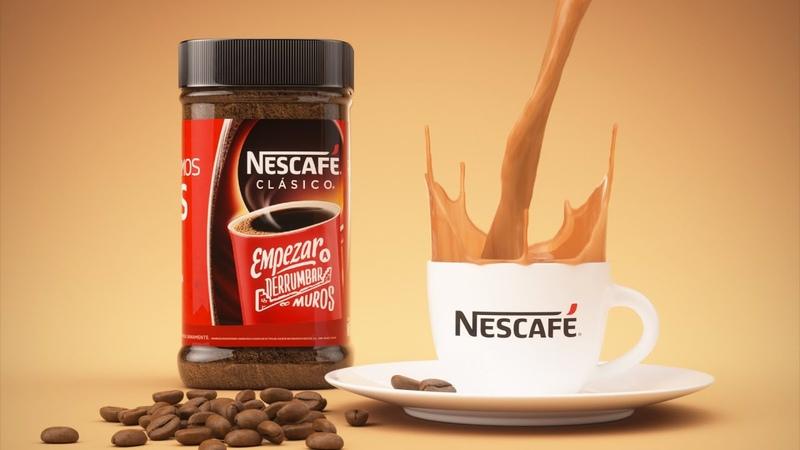 Nescafe 3D Liquid Animation Motion Graphics 4K Commercial C4D Octane and Realflow