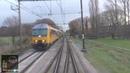 Meerijden met de machinist van Utrecht naar Baarn met snelheidsmeter