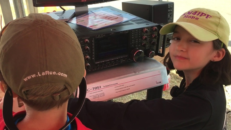 10 Year-Old KM4IPF Helps an Eight Year-Old Boy Experience Amateur Radio HF For the First Time!