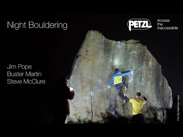 Night Bouldering - Peak District - Petzl
