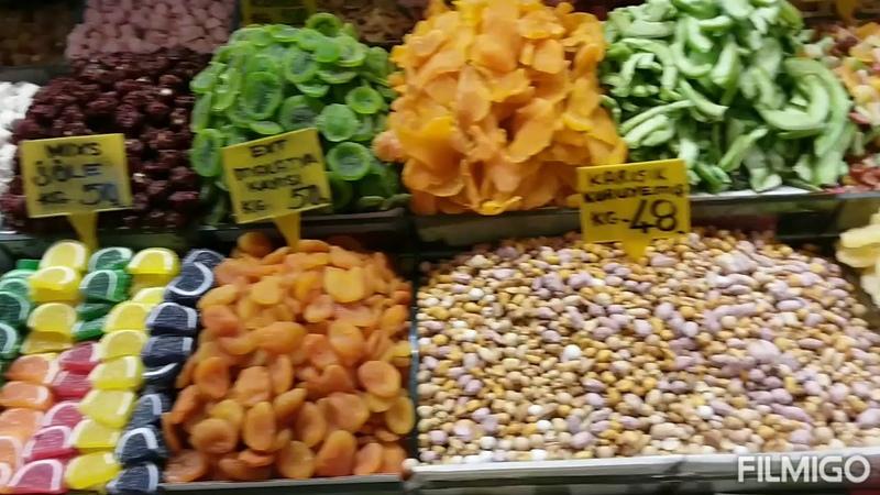 Прогулки по Стамбулу Египетский базар Istanbul Egyptian bazaar Istanbul Misir çarşısı