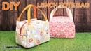 DIY Lunch Tote Bag 도시락 가방만들기 Weekend Picnic Hand Bag Tutorial sewingtimes