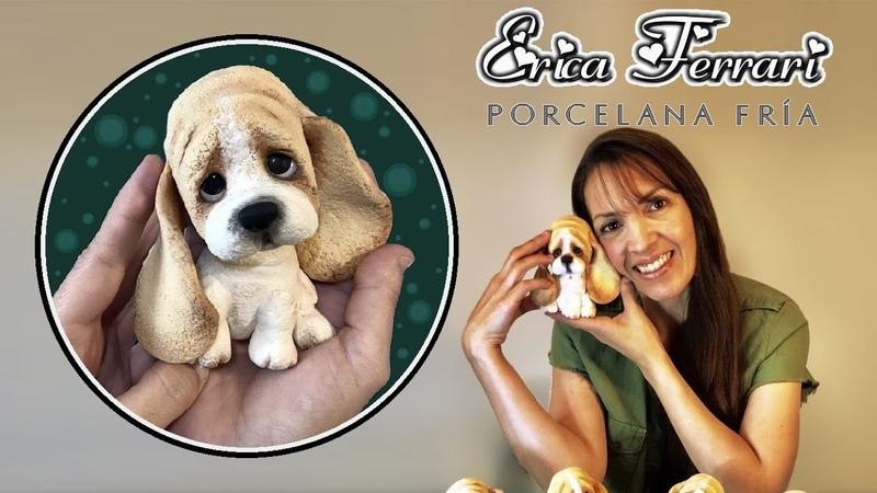 🐶 Erica Ferrari Porcelana Fría | Cachorro Batata Orejas | Clase Gratis | DIY | Tutorial Fácil