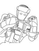 раскраска живая сталь роботы главное