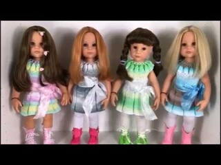 16 Goldfaden Мастер класс Платье для кукол Готц Gtz вязание