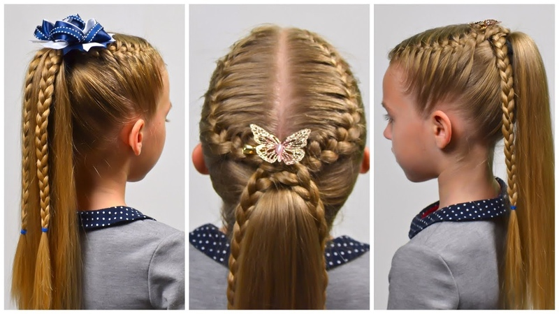 2 Quick Easy braided hairstyles | FRENCH braid ★ Back to School ★ Little girls hairstyles 87 LGH