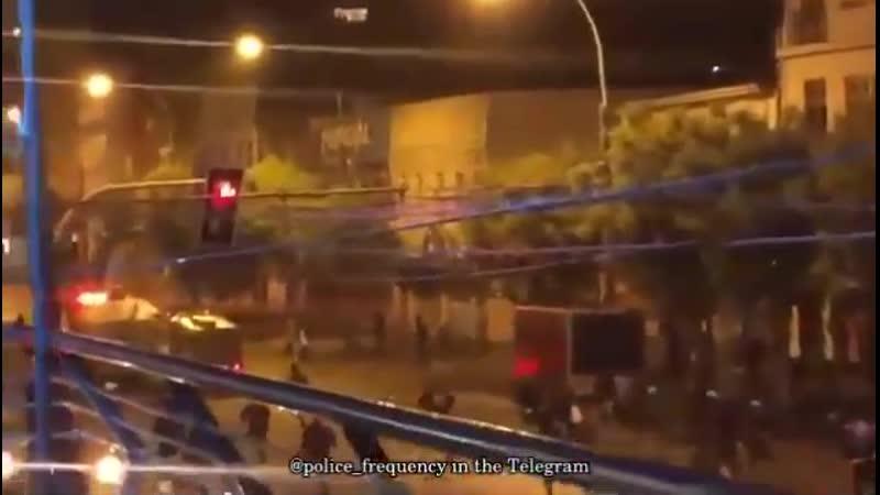Бедлам на улицах Сантьяго де Чили