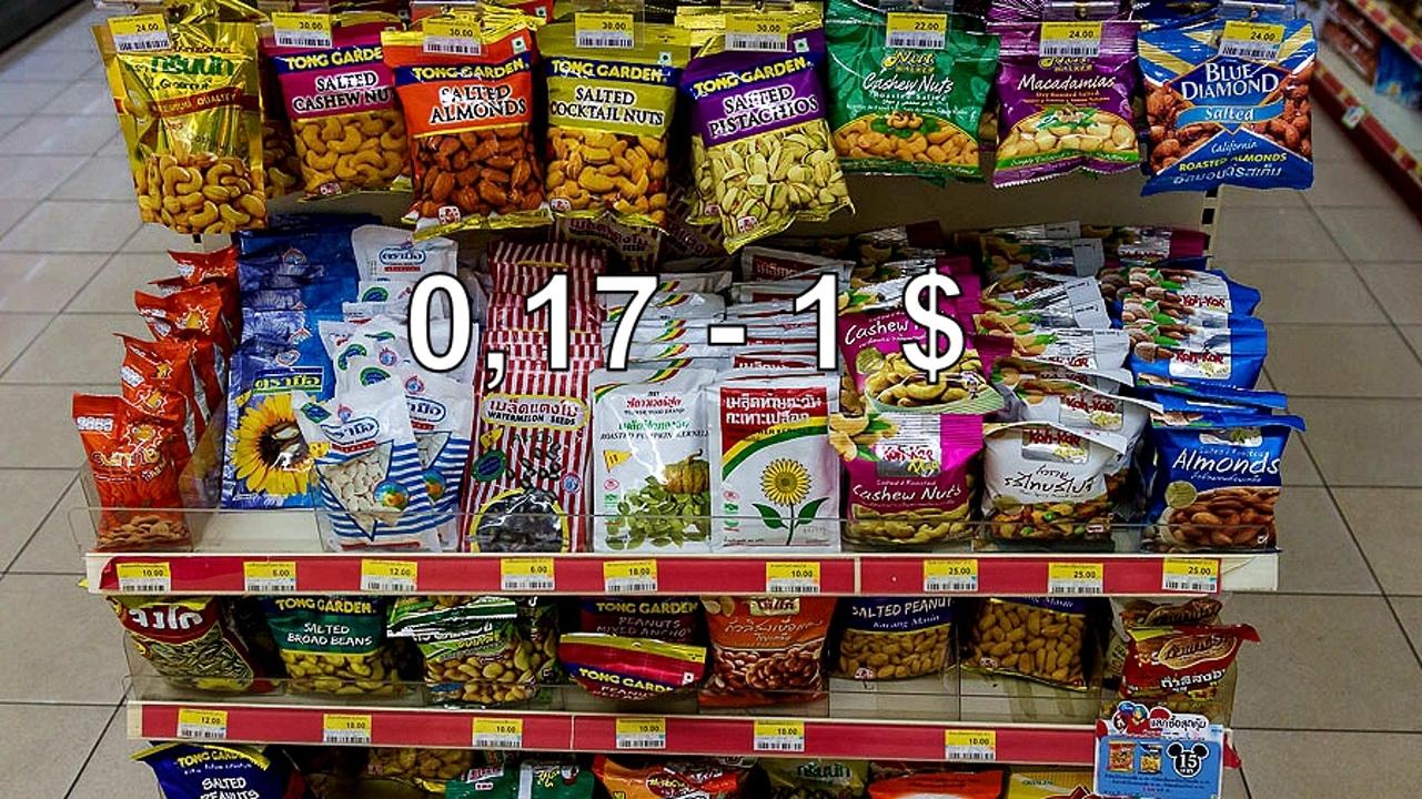 Цены на продукты и еду в Таиланде.  _502cFUtuxs