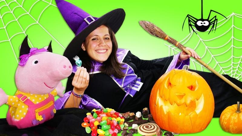 Disfraz de bruja para Peppa Pig Halloween para niños Vídeos para niñas y niños