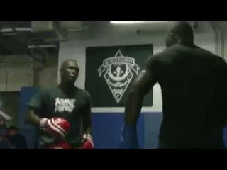 Israel Adesanya and Anthony Rumble Johnson Sparring footage