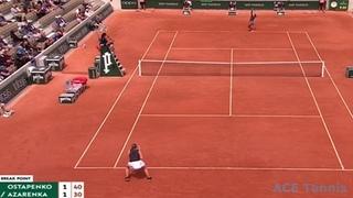 Victoria Azarenka vs Jelena Ostapenko French Open 2019 Highlights