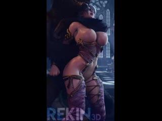 Ivy x Werewolf, (Rekin3D) SoulCalibur 3D Porno R34