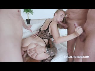 TAP and Fisting Kira Thorn gets it Balls Deep all the way with Swallow while fisted - Porno, Gonzo DAP Gangbang Toys Anal