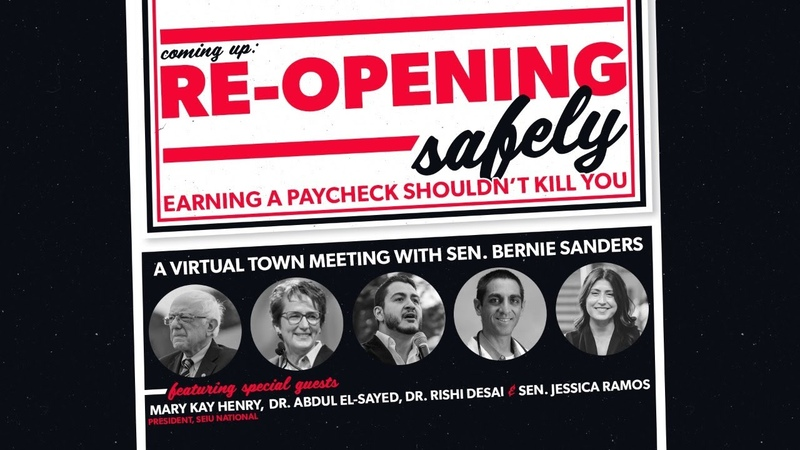 RE OPENING SAFELY EARNING A PAYCHECK SHOULDN'T KILL YOU LIVE AT 7PM ET