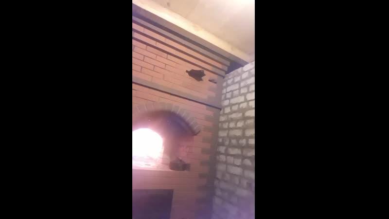 руская печь с встроеной казаной плитой
