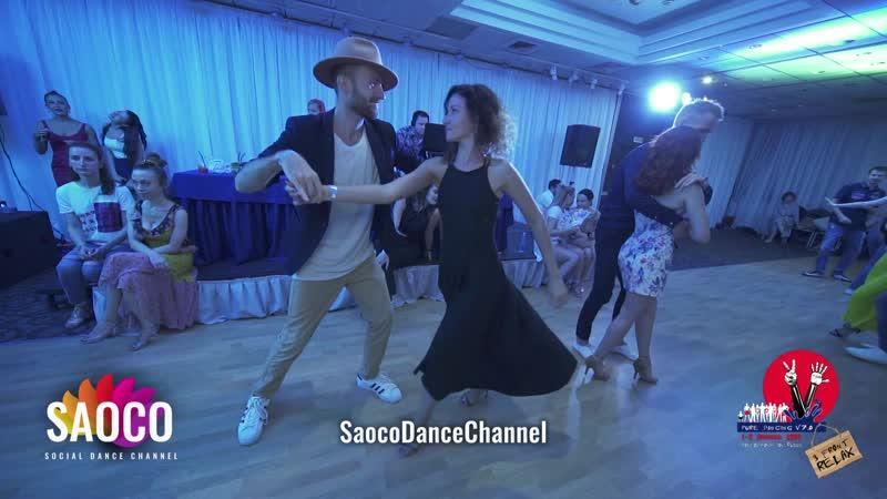 Артем Левин и Надежда Нескоромная танцуют сальсу на 3 Front Relax 04 08 2019