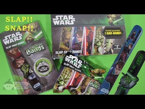 STAR WARS Slap Snap Bands Snap Slap Bracelets unboxing Special Edition Box