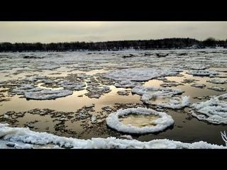 26 ноября 2019. Ледостав на реке Юг. Кировская область, Подосиновский район